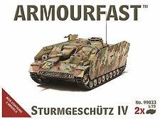 Armourfast 1/72 Sturmgeschutze IV Model Kit - Contains 2 Tanks - 99033