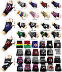Fingerless Gloves Mens Womens Hand Warmer Mittens Design Style Various Patterns