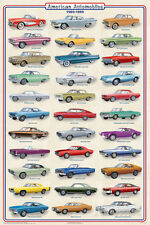 American Autos of 1960-1969 Poster Print, 24x36