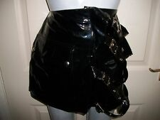 Short pvc bondage skirt fetish punk alternative goth cyber in size 10