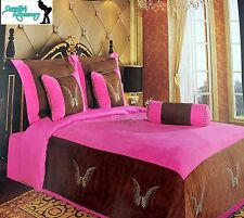 Embroidery Angel Wings Texas Western Cross Luxury Comforter Suede 7 Pieces Queen
