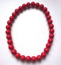 Superbe COLLIER rouge fantaisie NEUF pop vrai rouge red necklace