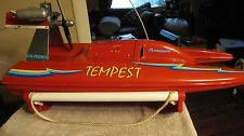 VINTAGE RC FLITECRAFT TEMPEST SPEED BOAT AIR BOAT OS MAX FP NITRO GAS ENGINE