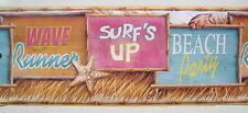 SURFING WAVE RUNNER BEACH SEASHORE  Wall Border 9""