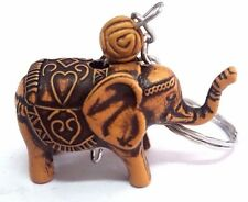 Thai Elephant Key Chain /Handbag Resin Handmade Cute Collectibles Souvenir Gift