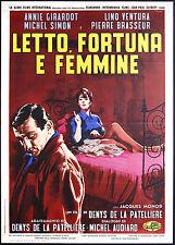 CINEMA-manifesto LETTO, FORTUNA E FEMMINE monod, simon,girardot,DE LA PATELLIERE