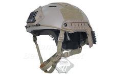 FMA Tactical Airsoft Adjustable Fast Helmet PJ NVG Mount for Paintball DE (L/XL)