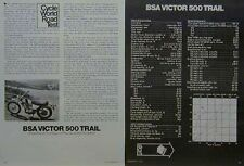 BSA VICTOR 500 TRAIL Motorcycle Road Test Article 1972