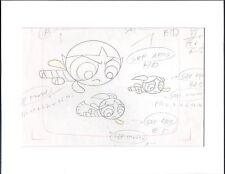 The Powerpuff Girls Production KEY Cell Drawing Cartoon Network COA Seal 2*