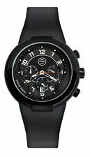 New Philip Stein Active 45mm Chronograph Black Rubber Watch 32-AB-RBB