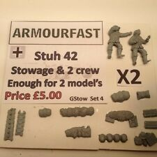 Early War 20mm (1/72) Armourfast German Sd Kfz 251/9 Stowage Set (2 Vehicles)