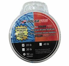 Polar Fire Multi-Strand Braided Tip-Up Line - Multi colored 50yd, 20lb #PFL-5020