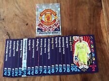 2016/17 MATCH ATTAX 19 MANCHESTER UNITED  CARDS FULL BASE TEAM SET#