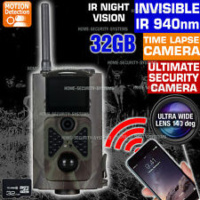Trail Camera Wireless 3G GSM 32GB Security Alarm Cam Home Farm No Spy Hidden