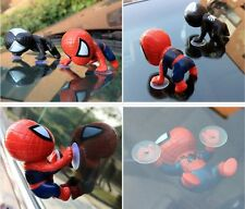 Car SUV Hoods Windshield View Mirror Decorative Toy Spiderman Doll With Suckers