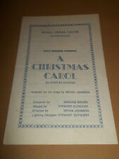 "ROYAL OPERA HOUSE SCARBOROUGH "" A CHRISTMAS CAROL "" PROGRAMME BRYAN JOHNSON"