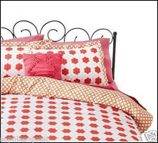 8pc- xhilaration FLORAL MEDALLION Reversible Comforter + Sheets Pink Orange FULL