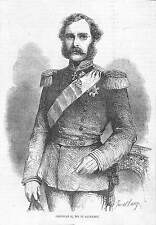 DANEMARK DANMARK ROI KING CHRISTIAN IX GRAVURE ILLUSTRATION 1863