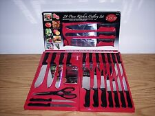 Chef Deluxe Miracle Edge Kitchen Cutlery Set 21pc Surgical Steel Dishwasher Safe