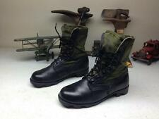 DISTRESSED BLACK GREEN LEATHER MOTORCYCLE MILITARY ENGINEER JUNGLE BOOTS 6.5 XW