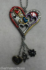 HEART Funky Love color CAR MIRROR CHARM JEWELRY REAR VIEW ornament ganz decor