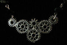 Steampunk gears necklace! beaded rosary chain antique retro clock parts