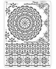 Pergamano Parchment Craft Multi Grid 6 - Floral Lace Doily Style Corners Borders