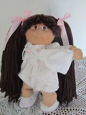 """VINTAGE CABBAGE PATCH DOLL16"""" WITH REROOT BROWN HAIR, BROWN EYES AND FRECKLES"""