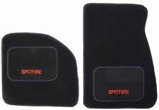 Triumph Spitfire carpet 1962-1980 Black OVERMAT / SLIPMATS, quality, bound edges