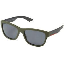 Nouveau Prada Linea Rossa polarisé homme vert caoutchouc gris lunettes de soleil PS03QS UBW5Z1