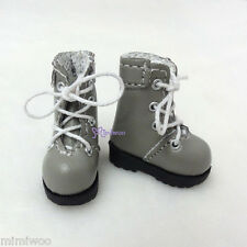 "16cm Lati Yellow Basic Bjd 12"" Neo Blythe Pullip Doll Shoes High Hill Boots GREY"