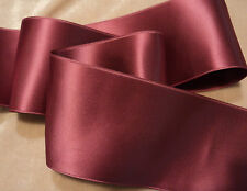 "2"" WIDE SWISS DOUBLE FACE SATIN RIBBON --VICTORIAN ROSE"