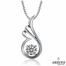 925 Sterling Silver Wing Pendant Necklace Chain Jewellery Set Ladies Gift UK