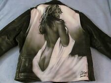 Cindy Crawford L.A. ROXX Men's Motor Cycle Leather Jacket; Sz 46; One-of-a-Kind!