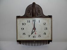 GENERAL ELECTRIC CLOCK Wall Blueberry Rake Vintage 60s Plastic USA Retro Mod