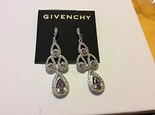 $88 Givenchy  Violet Purple Stone Dangle Earrings 306