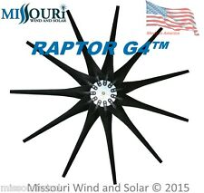 11 Raptor Series Blades™ BLACK wind turbine blades and hub made in USA HD