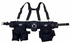 Carpenters Electrician Construction Tool Belt Bag Suspenders Framer Rig  Tools