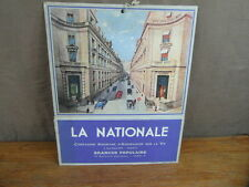 CARTON A SOUFFLET PUBLICITAIRE ASSURANCES LA NATIONALE PARIS vers 1950