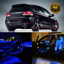 10x Blue Interior LED Package  For VW Golf 6 GTI 1997-2015 (License Plate Light)