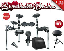NEW Alesis Command Kit Electronic Drum Set bundle with Hitman HD-M1 Monitor