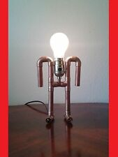 """Copper pipe lamp """"the Ancient Astronaut"""""""