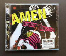 AMEN - Death Before Musick CD VG 2004 15 Tracks With Lyrics Feat Casey Chaos