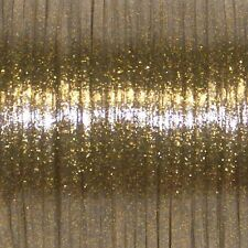 100 YARDS (91m) SPOOL GOLD SPARKLE REXLACE PLASTIC LACING CRAFTS CYBERLOX
