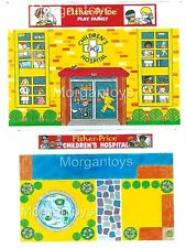 FISHER-PRICE Little People CHILDREN'S HOSPITAL REPLACEMENT LITHOS #931 Stickers