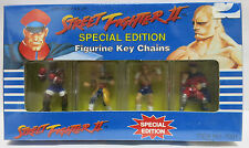 Street Fighter 2 II Special Edition Figurine Key Chains Sealed NEW Capcom 1992