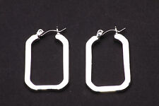 MODERN SILVER RECTANGLE EARRINGS, SIMPLY CLASSIC, STYLISH PEAK QUALITY (NS1)