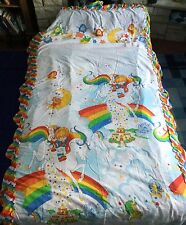 Very Rare Rainbow Brite Vintage Canopy Four Poster Bed Cover To Match Duvet