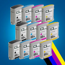 12 Ink Cartridges for HP 88XL Officejet Pro K550DTWN L7500 L7580 L7600 L7680