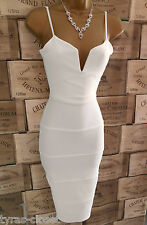 Sexy Cream Bodycon Bandage Holiday Cocktail Party  Dress Size 14